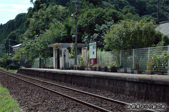小中駅(こなかえき) わたらせ渓谷鐵道